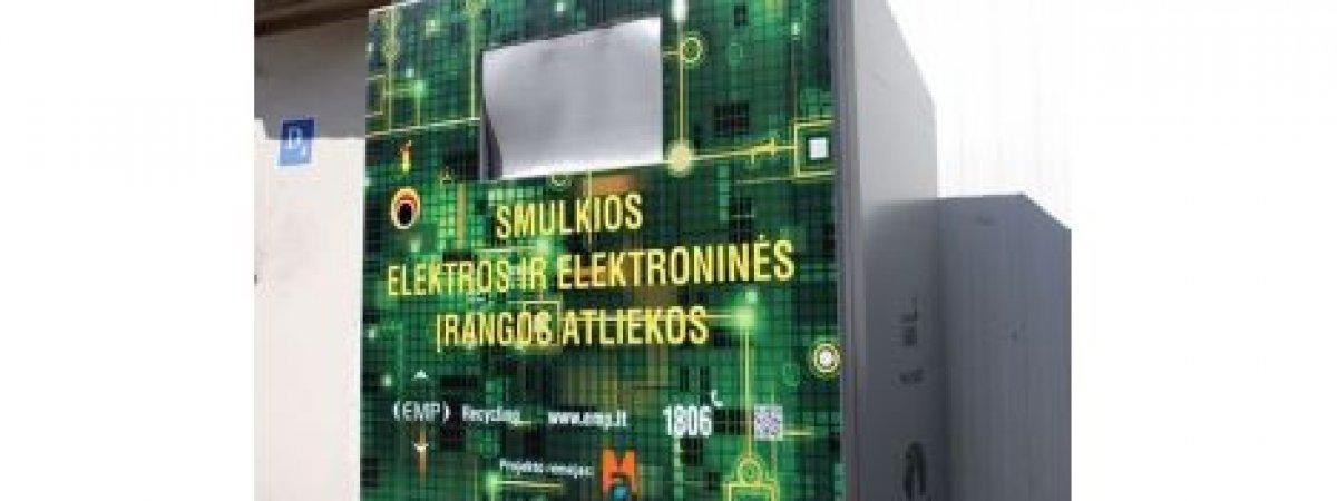 Elektronikos atliekų konteineris - ne tik funkcionalus, bet ir šiuolaikiškas