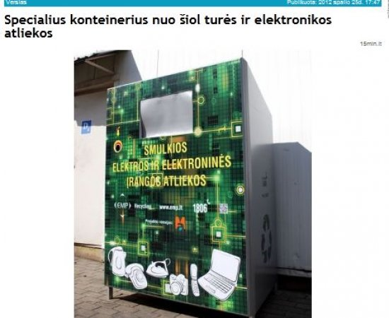 Container for electronic waste is not only functional, but also modern